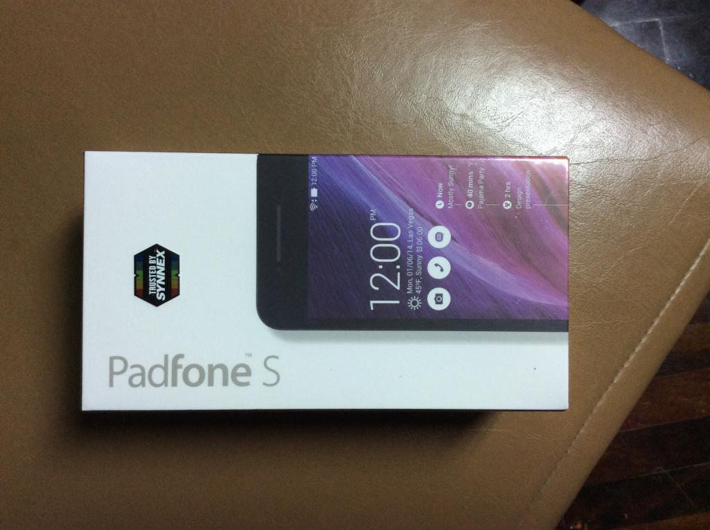 ขาย asus padfone s สีดำ ยังไม่แกะกล่อง 6000 บาท