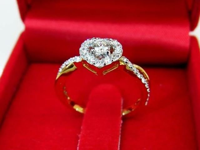 แหวนเพชรเบลเยี่ยมคัทน้ำ97VVS1 ห้างเพชรกาญจน์