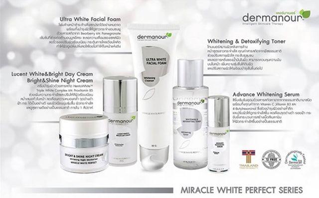 ลดสุด ๆ dermanour ชุด Miracle White Perfect ซื้อ 1 แถม 1