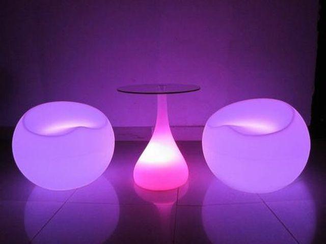 เก้าอี้เรืองแสง เก้าอี้สตูลLed โต๊ะกลางจัดงานปาร์ตี้ โต๊ะค๊อกเทล