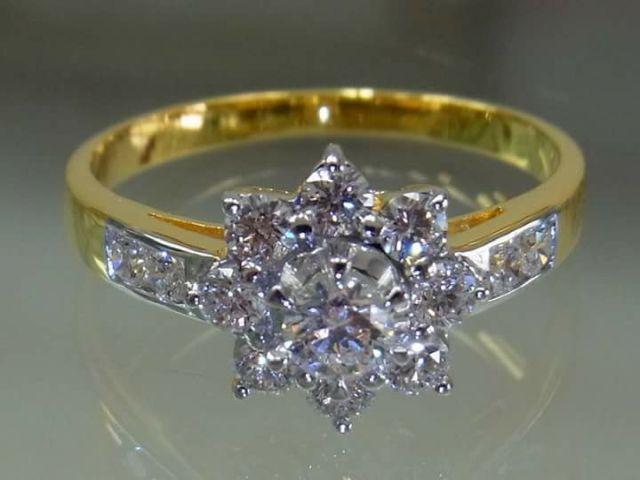 แหวนเพชรแท้ดอกพิกุล ห้างเพชรกาญจน์