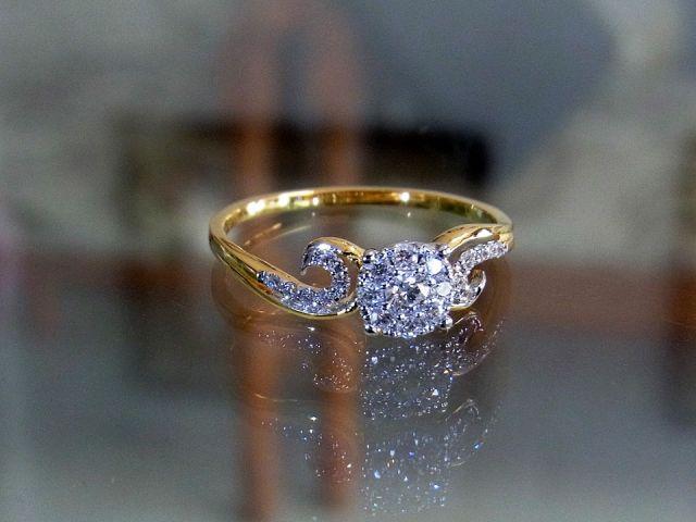 แหวนเพชรแท้  แหวนเพชรเบลเยี่ยมคัทน้ำ97VVS1