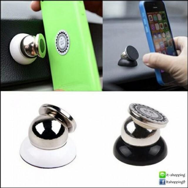 ที่ยึดโทรศัพท์มือถือในรถยนต์แบบแม่เหล็ก  หมุนได้  รอบทิศ