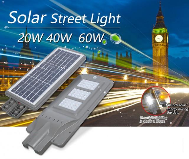 โคมไฟถนน All in One Solarโซล่าร์เซลล์ 15w-30w