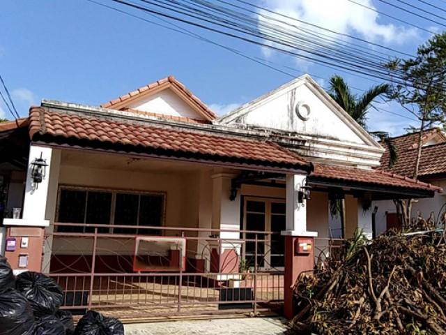TL-0007 -บ้านเดี่ยวชั้นเดียวให้เช่า มี 2 ห้องนอน 2 ห้องน้ำ 1 ห้องครัว