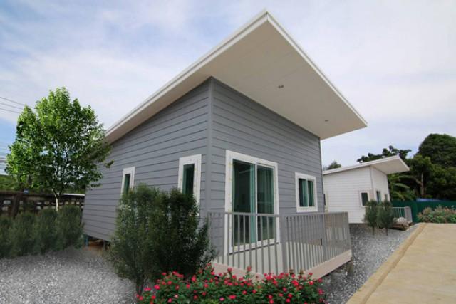 TL-0022 -บ้านเดี่ยวชั้นเดียวสไตล์รีสอร์ทให้เช่า มี 2 ห้องนอน 1 ห้องน้ำ