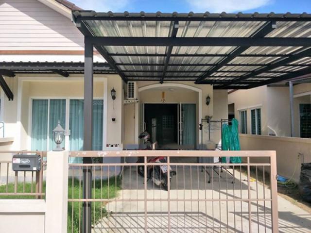 TL-0037 -บ้านเดี่ยวชั้นเดียวให้เช่า มี 2 ห้องนอน 2 ห้องน้ำ 1 ห้องครัว