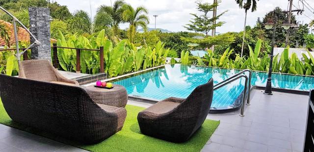 6A120554 ให้เช่าบ้าน Pool Villa ชั้นเดียว วิวภูเขา พร้อมสระว่ายน้ำส่วนตัว.