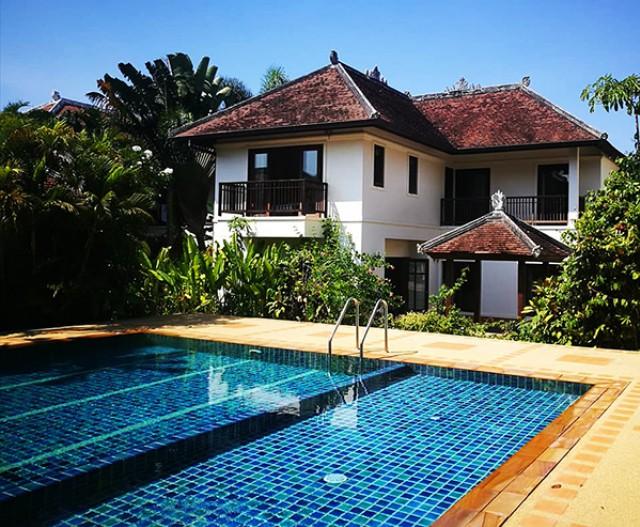 6A40386 ให้เช่าบ้าน Pool Villa  2 ชั้น พื้นที่ 200 ตรม. พร้อมสระว่ายน้ำส่วนตัว.