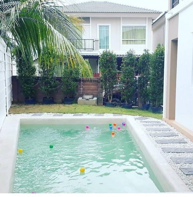 6A111842 ให้เช่าบ้านเดี่ยว 2 ชั้นในโครงการ พร้อมสระว่ายน้ำส่วนตัว.