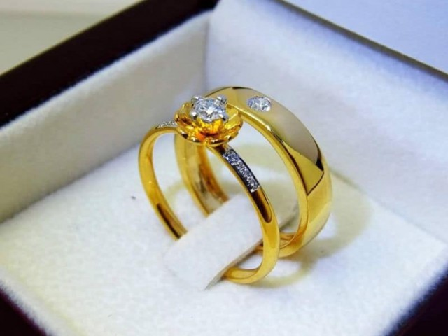 แหวนแต่งงาน แหวนเพชรแท้ ห้างเพชรกาญจน์