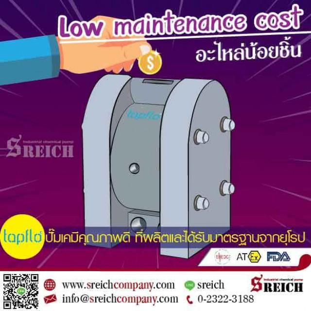 Low maintenance cost